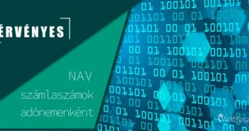 2020. július 1-jétől érvényes NAV számlaszámok