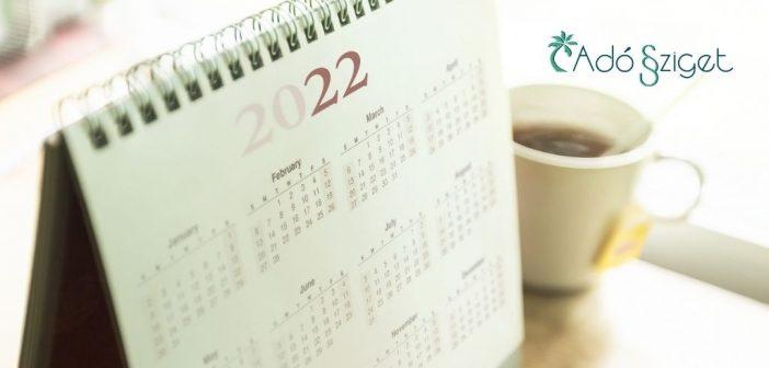 A 2022. évi munkaszüneti napok